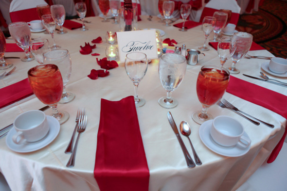 Classic Red & White Wedding Colour Palette