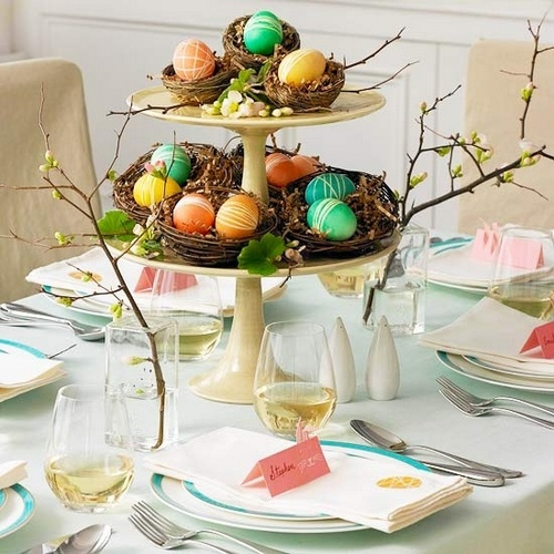 Easter Decorating Table
