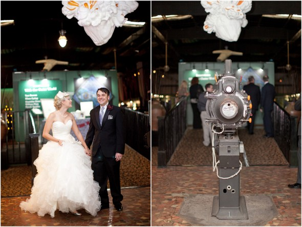 movie themed whimsical wedding Whimsical Movie Theatre Wedding by Mustard Seed Photography