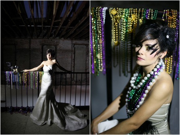 new orleans mardi gras wedding inspiration New Orleans Mardi Gras Wedding Theme Inspiration