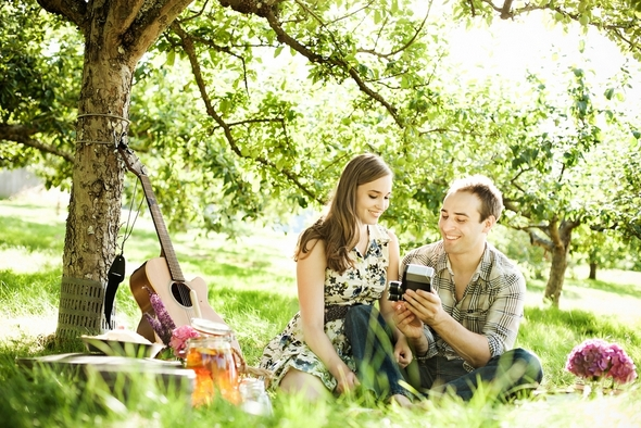 picnic style love shoot Picnic Style Engagement Inspiration Shoot by Kunio Photography