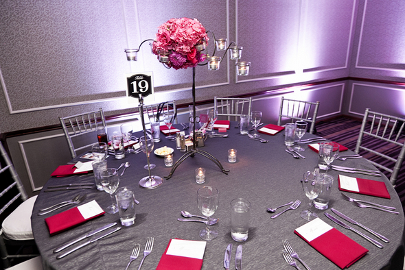 Pink & Gray Wedding Table