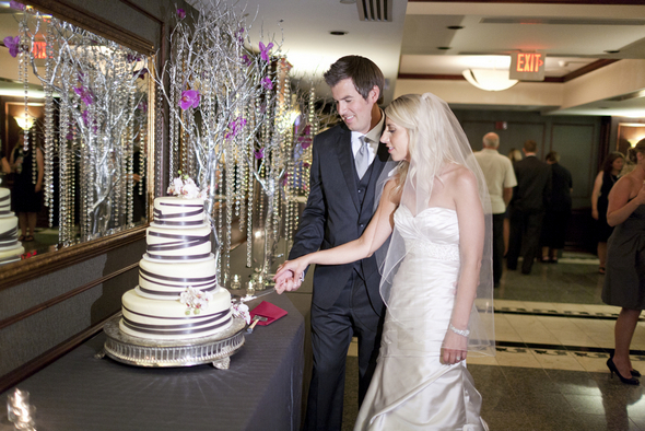 Pink & Grey Wedding Cake Ideas