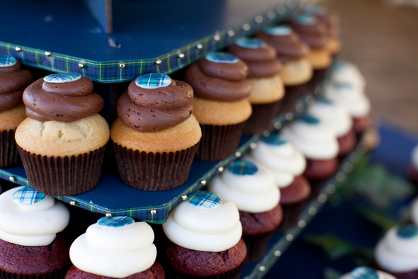 Plaid Wedding Cake Cupcakes