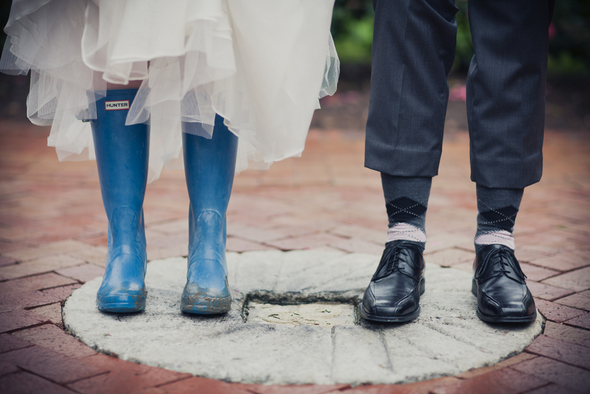 Rainy Day Blue Gumboots Weddings
