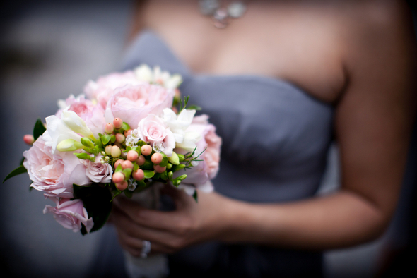 Rustic Chic Pink & Gray Bridesmaids