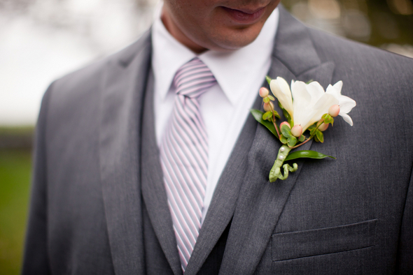 Rustic Chic Pink & Gray Groom