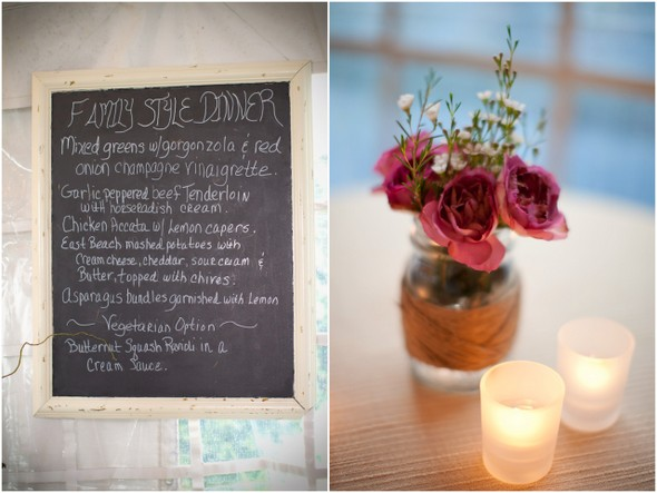 Rustic Wedding Blackboard Menu