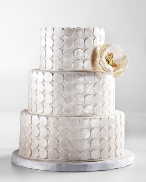 Silver Art Deco Wedding Cake