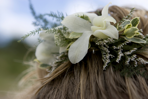 Simple Beach Wedding Hair Flowers