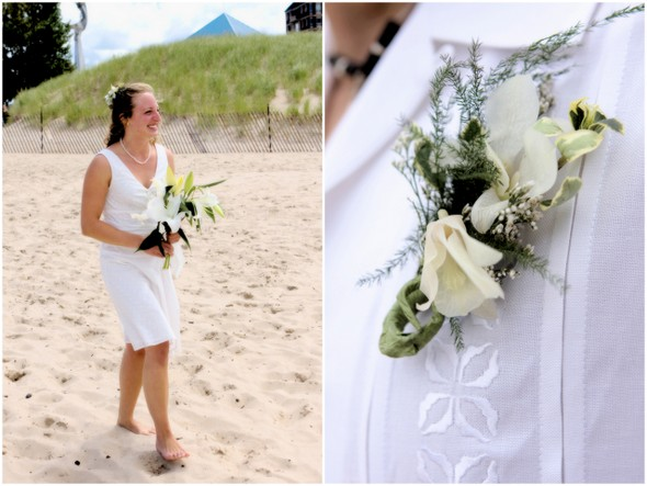 Simple Beach Wedding Michigan