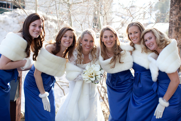 Ski Resort Wedding Bridesmaids