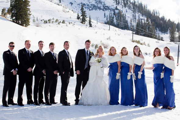 Ski Resort Wedding Snow