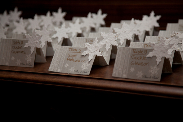Ski Resort Winter Wedding Place Cards