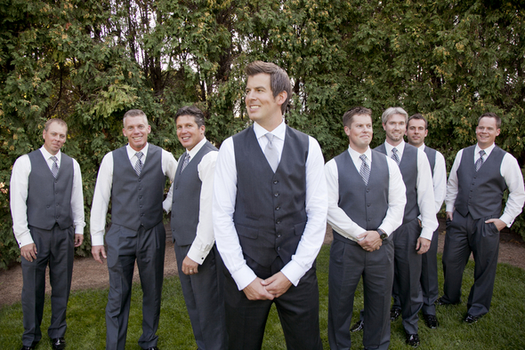 Stylish Dark Gray Groomsmen Attire