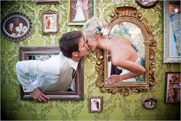 vintage frames photo booth Gorgeous Photo Booth Ideas For Your Wedding Reception