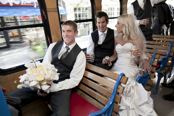 Wedding Trolley Ride Minneapolis