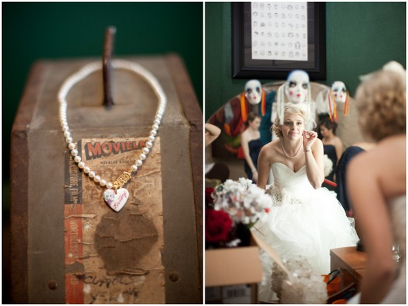 Whimsical Movie Theatre Wedding