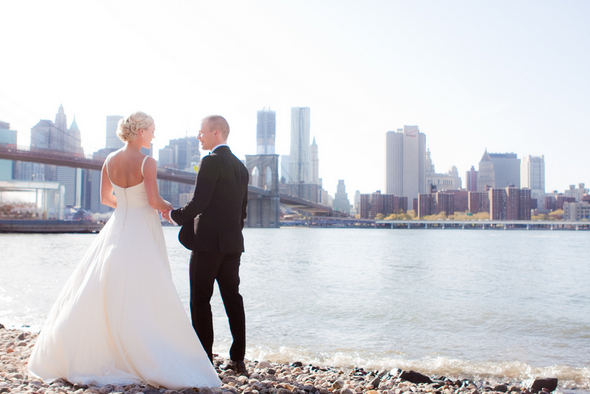 brooklyn bridge new york city wedding Small & Intimate Wedding in New York City