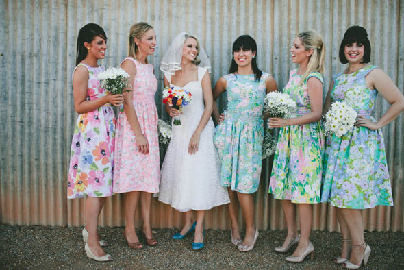 Country Vintage Floral Bridesmaids