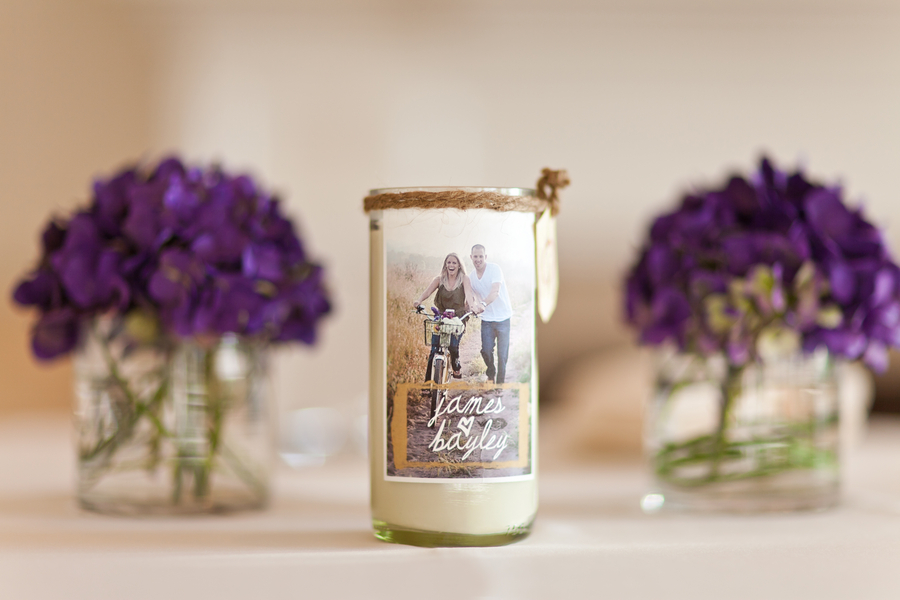 customized wedding candles Verandas Manhattan Beach Wedding by Figlewicz Photography