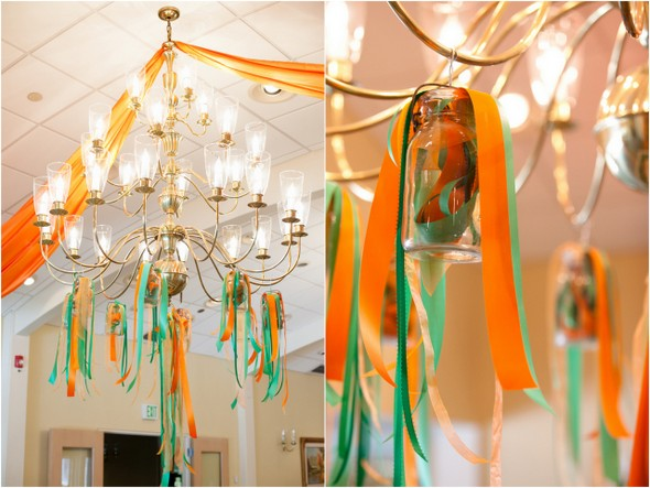 Green and Orange Wedding Decorations
