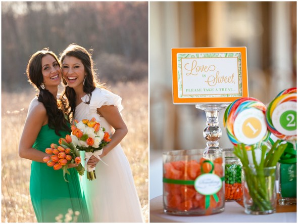Green and Orange Wedding Ideas