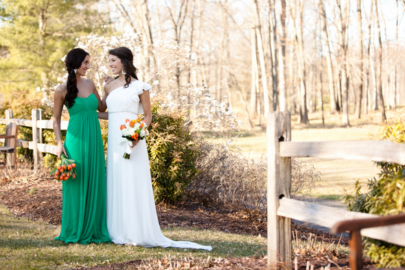 Green & Orange Wedding Colours
