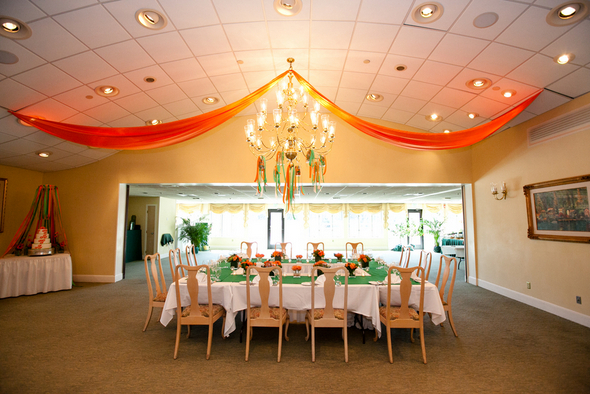 Green & Orange Wedding Ideas