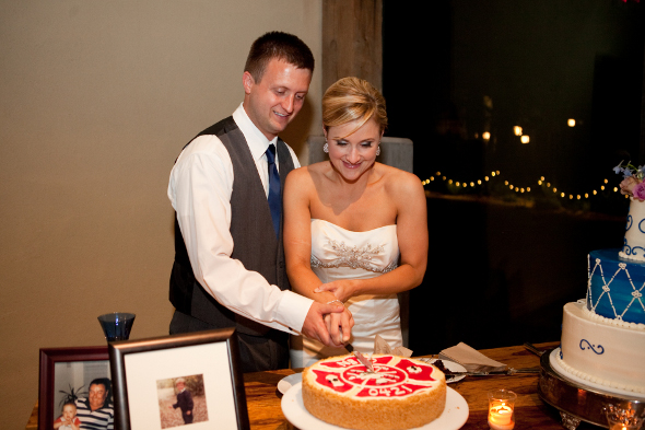 Groom's Cake with Maltese Cross