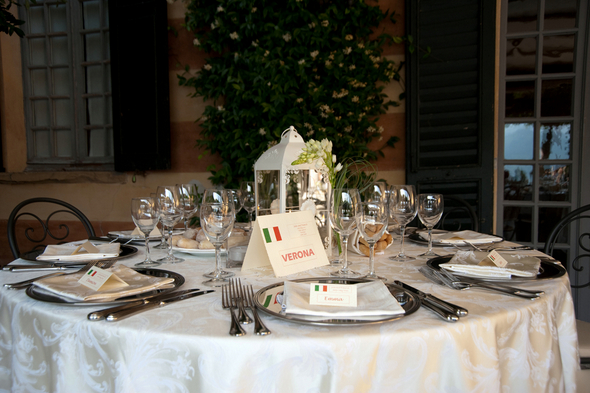 Italy Themed Wedding Tables