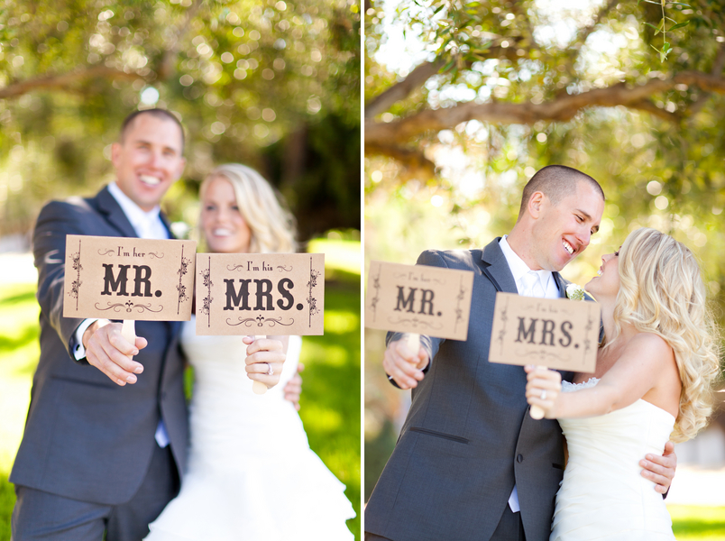 Mr and Mrs Wedding Signs Vintage