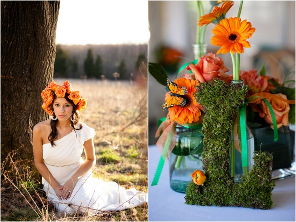 Orange and Green Wedding Ideas