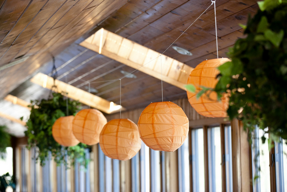 Orange Ceiling Lanterns