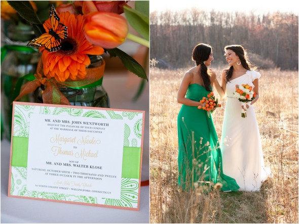 Orange & Green Wedding Stationery