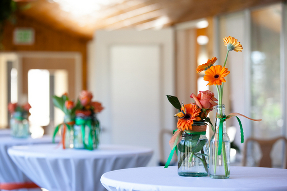 Orange & Green Wedding Tables