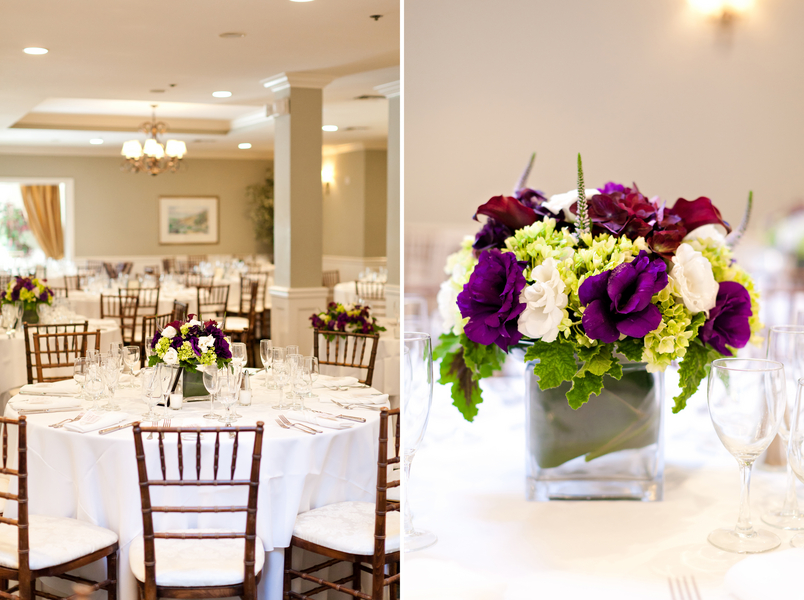 Purple Green & Yellow Centerpieces