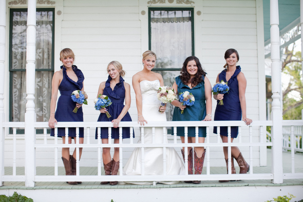 Rustic Glam Bridesmaids