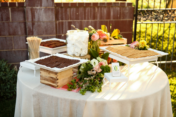 S'Mores Table at Wedding