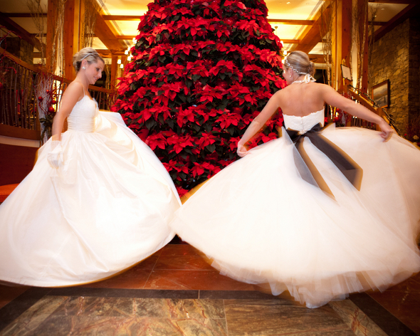 Twin Sisters Winter Wedding