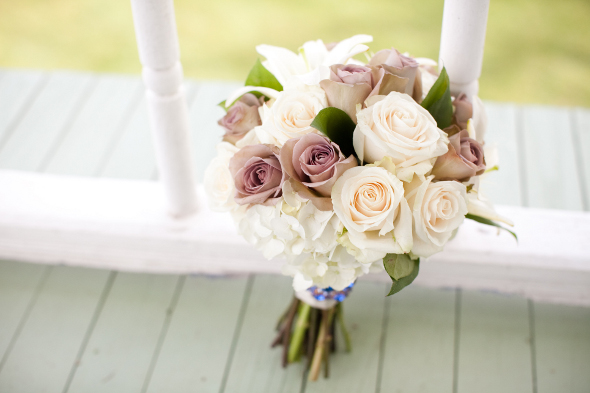 Vintage Mauve & Cream Wedding Bouquet