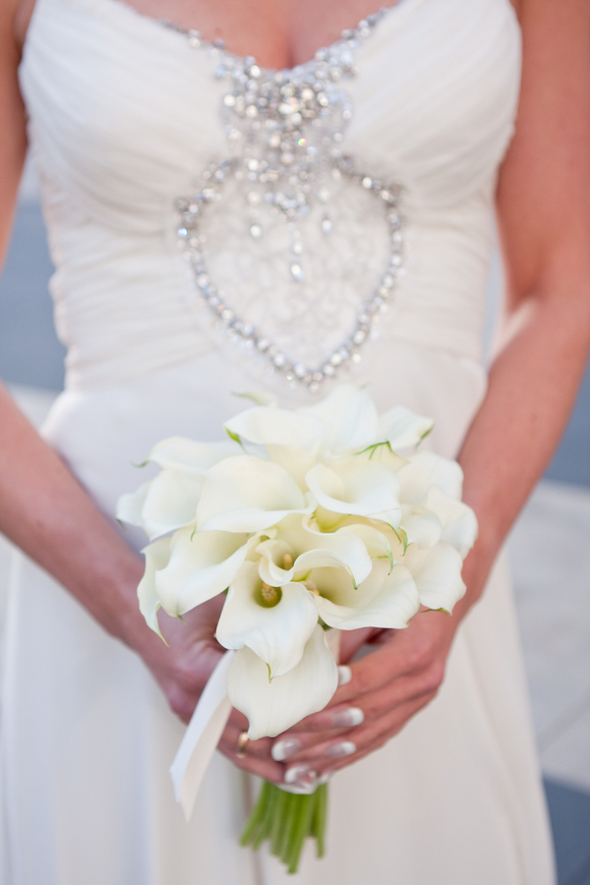 white lily bridal bouquet Small & Intimate Wedding in New York City
