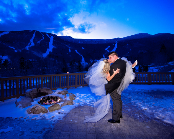 Winter Wedding Stowe Mountain Lodge Vermont