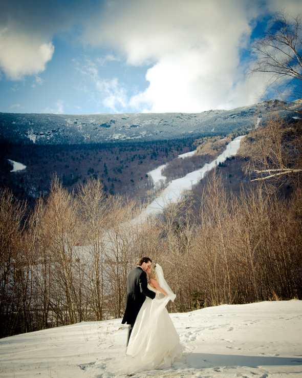 winter wedding vermont Winter Double Wedding for Twin Sisters
