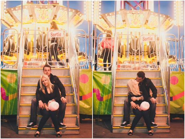 Amusement Park Engagement Shoot