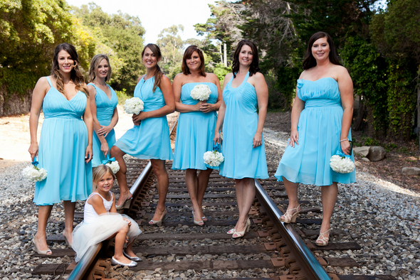 aqua blue bridesmaids Colourful Zoo Wedding by Jihan Abdalla Photography