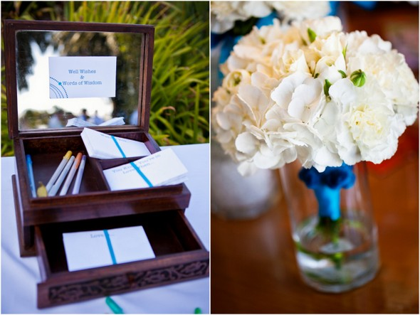 aqua guest note cards Colourful Zoo Wedding by Jihan Abdalla Photography
