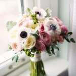 {Bouquet Inspiration} Black Pink & White Wedding Bouquet