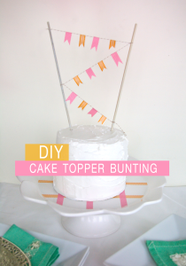 washi tape cake topper bunting
