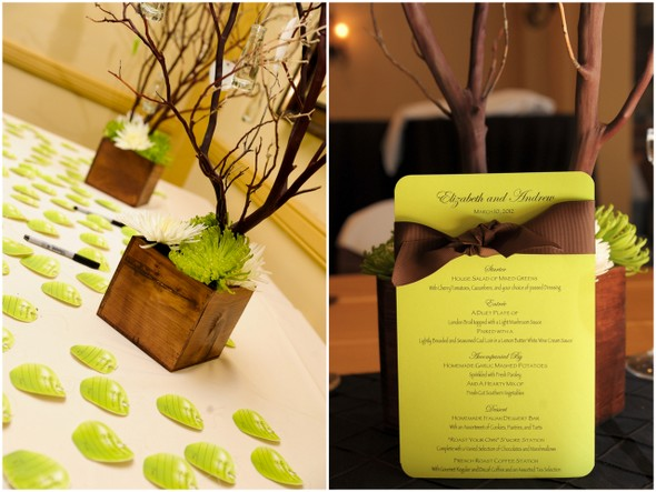 Chocolate Brown and Apple Green Wedding Decorations